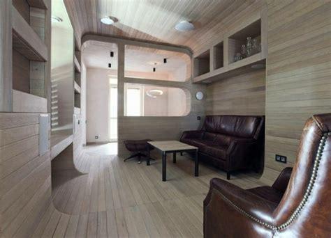 Kleines Apartment Wohnzimmer by Kleines Apartment Komplett Aus Holz In Moskau