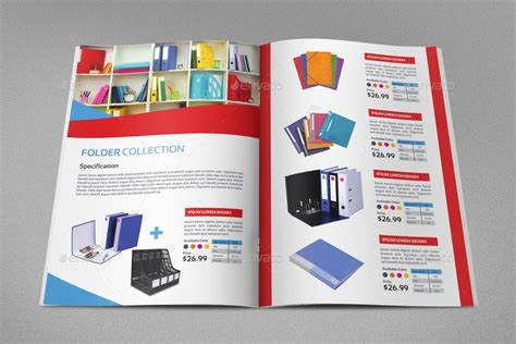 pdf catalog template stationery products catalog brochure 20 pages by