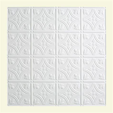 Fasade Traditional 1 2 Ft X 2 Ft Lay In Ceiling Tile Lay In Ceiling Tile