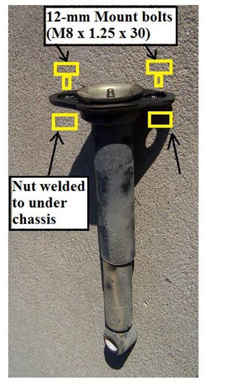 diy  volvo  rear shock absorber bilstein tc shock mount volvo forums volvo