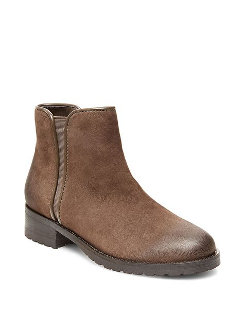 madden boots steve madden grrifin leather ankle boots in brown lyst