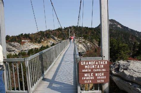 swinging bridge grandfather mountain grandfather mountain swing bridge picture of asheville
