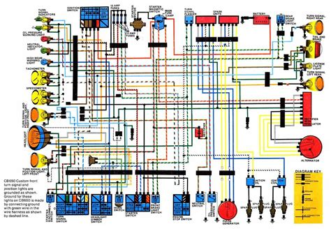 1980 1982 honda cb650 electrical wiring diagram circuit