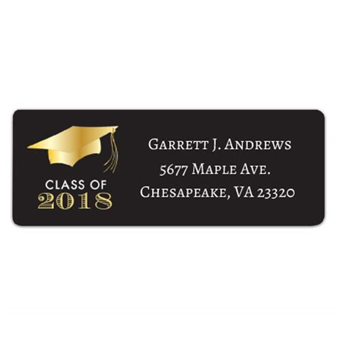 Graduation Return Labels