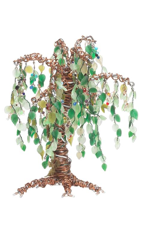 Home Design Story More Gems jewelry design tree sculpture with glass leaves and