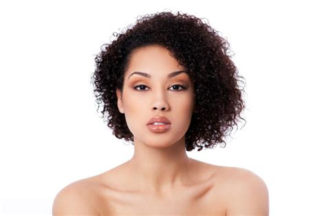 pictures of mixed race a line bobbed hair best curly hair styles for round faces