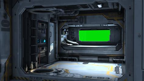 spaceship bedroom scifi spaceship bedroom background green screen stock footage 6063062