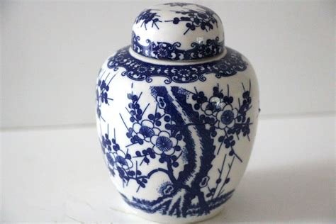 white ginger jar vintage blue and white ginger jar