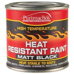 everbuild heat resistant paint 125ml black high