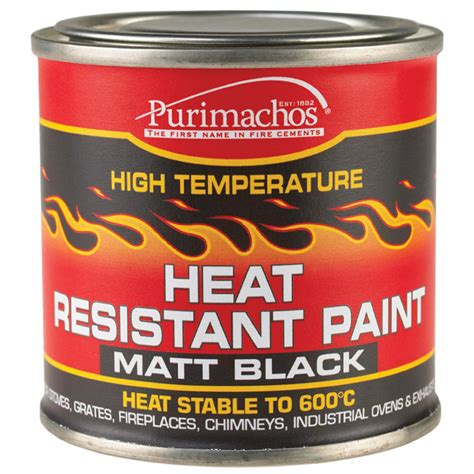 High Heat Paint Fireplace by Everbuild Heat Resistant Paint 125ml Black High