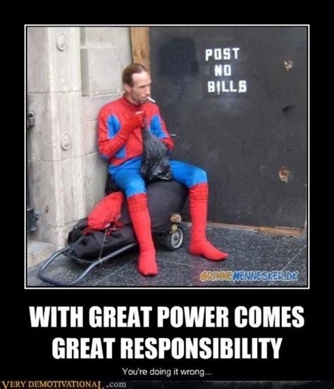 Great Funny Memes - smokin spidey with great power comes great