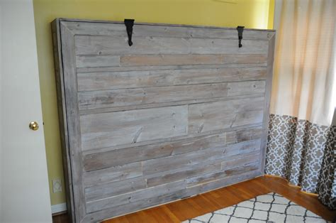 used murphy bed ana white rustic queen sized wall bed diy projects