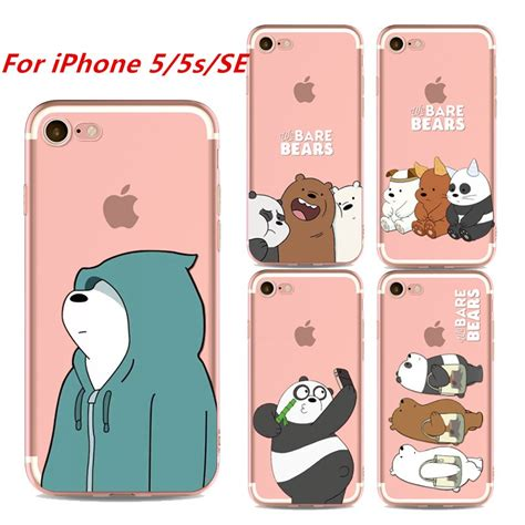 case  iphone   se soft cover  bare bears casing shopee philippines