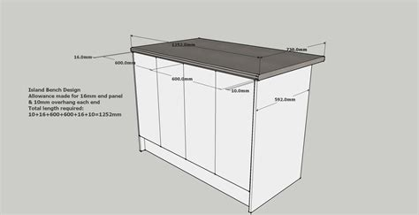 standard kitchen island dimensions island benchtop design exle working surfaces pty ltd