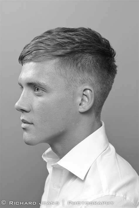 lads hairstyles 2015 high short back sides with neat side brushed top and