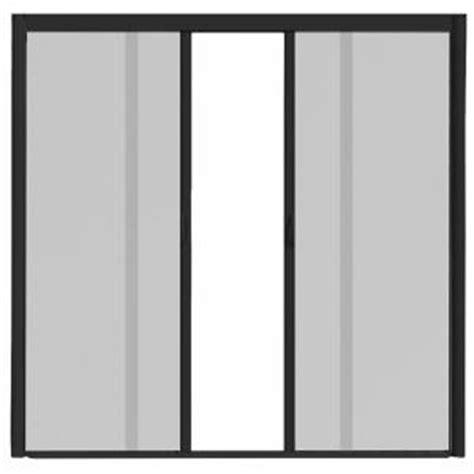 retractable screens for doors home depot visiscreen 72 in x 84 in vs1 black retractable screen
