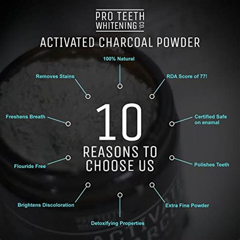 activated charcoal natural teeth whitening powder  pro
