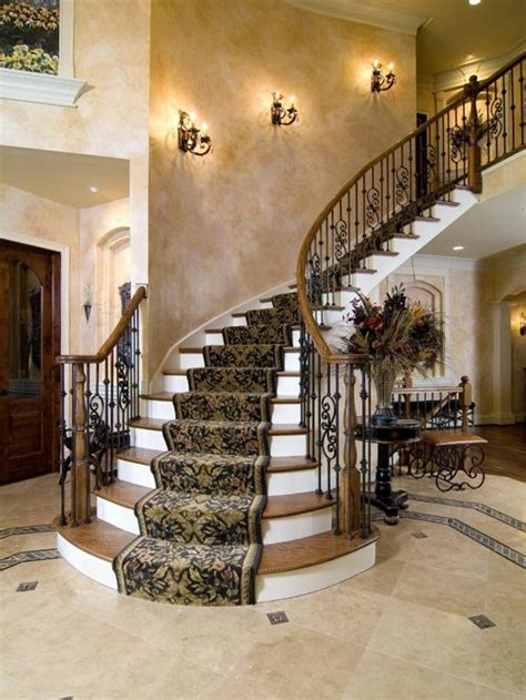 wood stair railing houzz