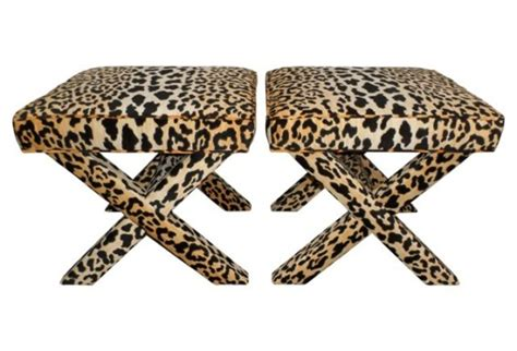 leopard print x bench chic bedroom vanity ottomans you ll adore candie