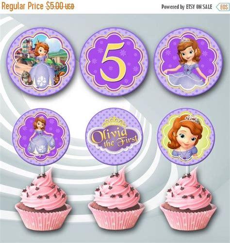 Sale Selimut Princess Sofia on sale 25 princess sofia cupcake toppers sofia by ticketparty sofia princesses