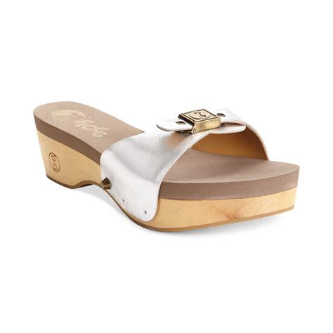 silver platform sandals flogg melanie slide platform sandals in silver silver