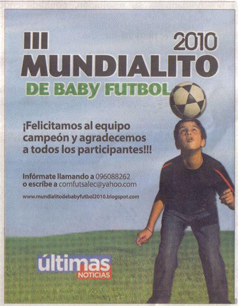 diario oficial el 25 de junio de 2010 tercer mundialito de baby futbol 2010