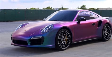 purple porsche 911 turbo video removing plasti dip from ferrari cars