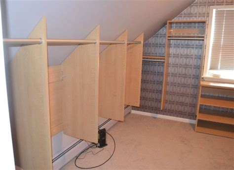 Bedroom Storage With Slanted Ceilings 25 Best Ideas About Attic Bedroom Closets On