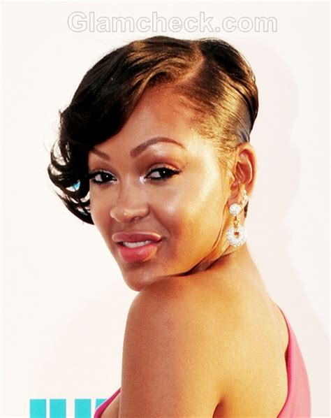 meagan good inspired hairstyle on short natural hair meagan good short haircut