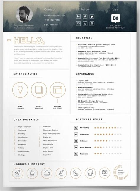 Resume Design Templates Psd Free Free Self Promotion Resume Template Psd Titanui