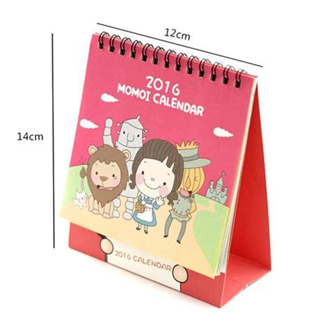 Kalender Meja 2017 Kartun Desk Calendar Creative Hka001 Four Colors Characters Standing Desk Calendars Paper Print Calendar 2016 Planner