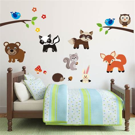 Wall Decal Place To Buy Woodland Creatures Wall Decals Nursery Animal Wall Decals