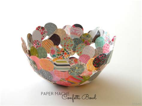 How To Make A Paper Bowl - make a paper mache confetti bowl 187 dollar store crafts