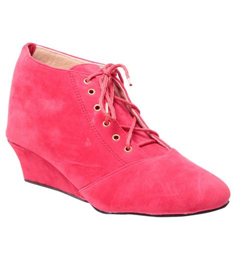 bluet pink wedges boots price in india buy bluet pink