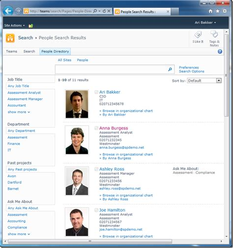 sharepoint 2010 people directory part 2 table layout at sharepoint config customising and configuring sharepoint