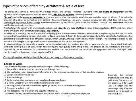 Architecture Professional Practice Architectural Designer Fees