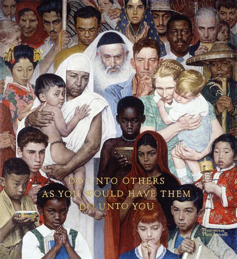 Picture Post Nation 3 by Rockwell S Quot Golden Rule Quot Norman Rockwell Museum The