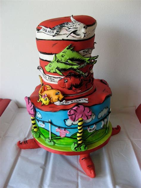 Dr Seuss Cakes Baby Shower by Dr Seuss Themed Baby Shower Cake Artisan Cake Company
