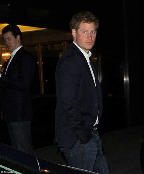 Harries Black Blazer prince harry hosts chicken and chips dinner at members club daily mail