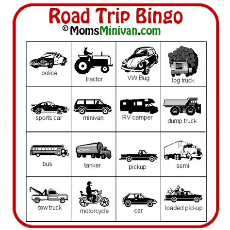 vehicle card template home with lindsay things to do on car trips