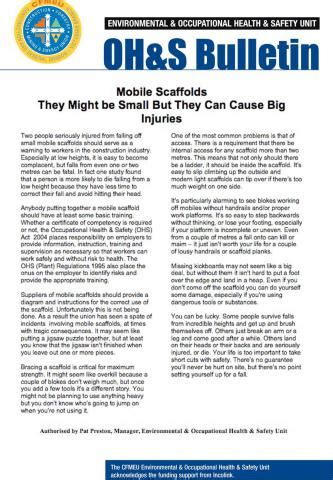 mobile scaffolds cfmeu south australia