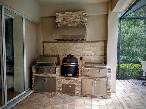 Outdoor Kitchen Backsplash gallery of brown outdoor kitchen ideas for your home