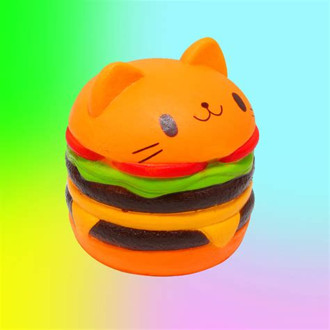 Squishy Burger Jumbo jumbo burger cat squishy jones a shop