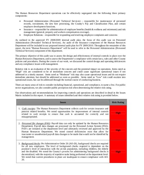 sle audit reports sle hr audit report template 28 images sle hr audit