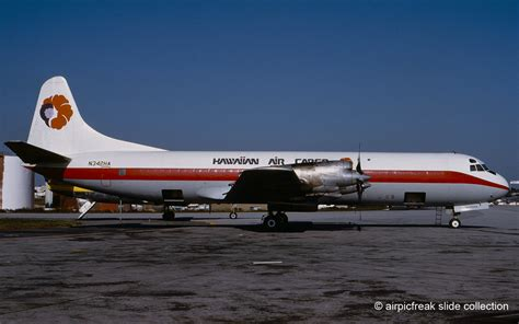 airpicfreak slide collection hawaiian air cargo lockheed l 188af n342ha