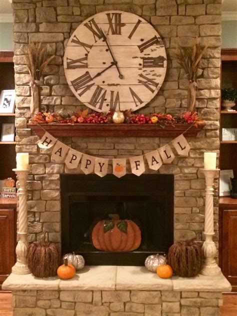 fireplace mantel decorating ideas for fall 87 exciting fall mantel d 233 cor ideas shelterness