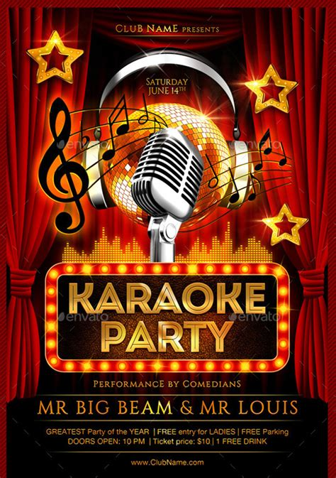 free templates for karaoke flyers 21 karaoke flyer templates psd vector eps jpg