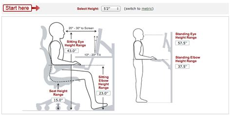 Height Of Average Desk by Calculate Ideal Heights For Your Ergonomic Office Desk