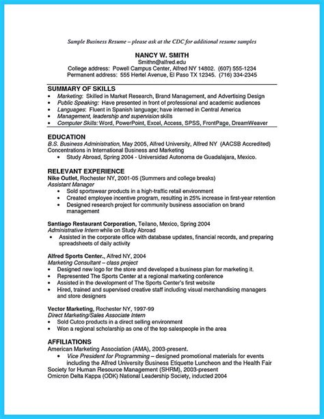 Business Administration Resume by Appealing Formula For Wonderful Business Administration Resume
