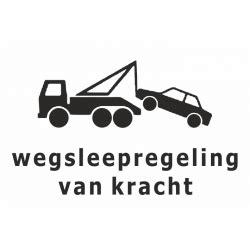 Vans Aufkleber Gratis by Wegsleepregeling Kracht Stickers In De Kleur Blauw